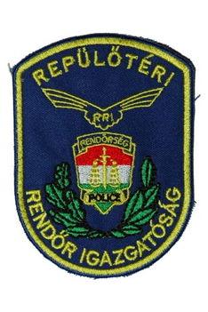 ORFK Repülőtéri Rendőr Igazgatóság (hímzett) karjelvény