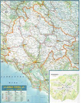 Montenegro autóstérkép