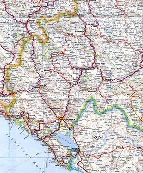 Montenegro térkép