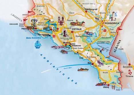 Térkép Montenegro