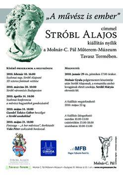 """""""A művész is ember""""  Stróbl Alajos kiállítás a Molnár-C. Pál Műterem-Múzeum Tavasz Termében"""