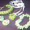 zöld gyöngyből