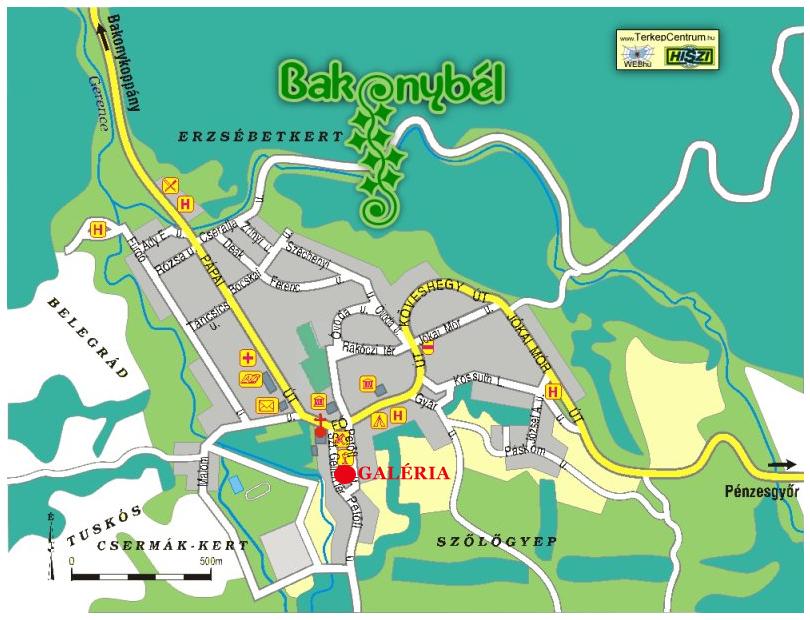 bakonybél térkép Túra: Bakonybél (kép) bakonybél térkép