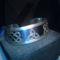 ezüst karperec szentháromság jelképével