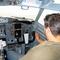 ferihegy belülről Malév gépben pilótafülke