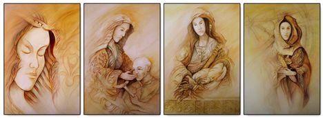 Szent Erzsébet (akwarell - papir) / Horváth György