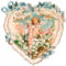 VICTORIAN _Heart_Shaped_Victorian_Valentine_Card_with_a_Cupid_and_a_Lace_Heart_clipart_image