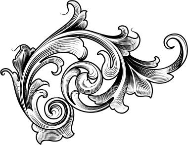 Victorian-scroll