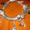 52. 925-ös ezüst közepű pandora gyöngy karkötő ezüstözött bali köztesekkel