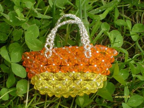 sárga - narancs táska
