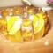 59. Mozaikos köztesekkel karkötő narancsos