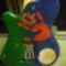 Zoli gitárja, rajta Boróka tenyérlenyomatával