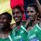 Az etiópiai aranyérmes futó-csapat 5000 méteren