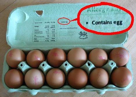 tojást tartalmaz