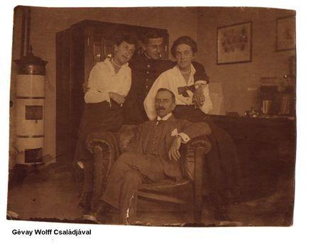 Gévay Wolff Lajos családjával