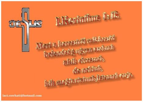 I.Korinthus 1-18.
