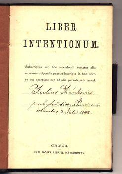 Ivánkovics Gyula  plébános aláírása