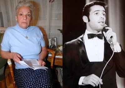Szécsi Katalin, a testvér (a színes képen); és a híres énekes