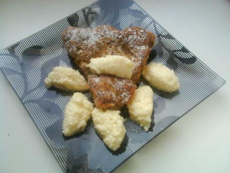Mandulás torta vaníliás kókusz galuskával 2