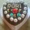 csoki szív torta