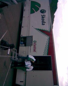 Skoda Rallye Team Itália service truck