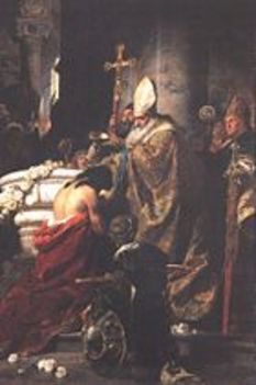 Benczúr Gyula - Vajk megkeresztelése