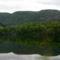 Bohinji - tó a buszból.