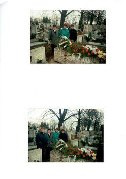 Jákó Vera sírjánál
