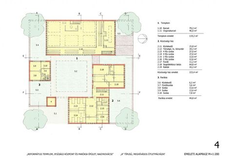 református templom emeleti alaprajz
