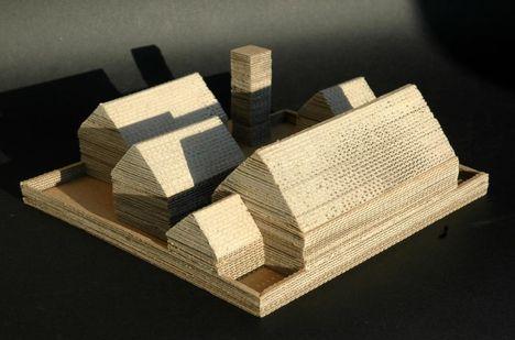 Református templom makett