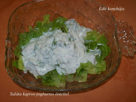 Saláta kapros-joghurtos öntettel