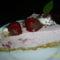 Epres, joghurtos torta szeletben
