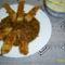 Rántott halcsíkok édes-savanyú mártással