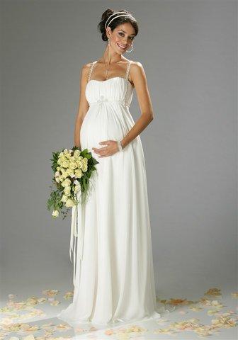 a3d33e08d8 Terhesség: Kismama esküvői ruha (kép)