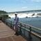 Argentin oldal, a sétány az Ördögtorokhoz vezet