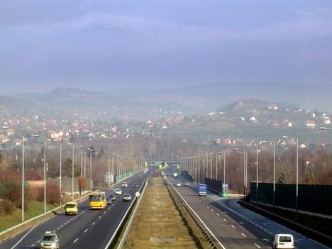 Érd felől Budaőrsnél