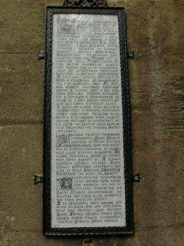 Margitsziget - A Kolostor bejáratánál lévő felirat
