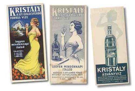 Kristályvíz reklámok 1920 előtt