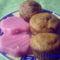Csokis-kókuszos maffin, málnapudinggal