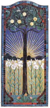 Róth Miksa: Felkelő nap (üvegmozaik, 171x76))