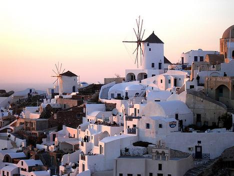 Windmills, Oia, Greece (by chuha)