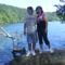 fiammal a tó felett