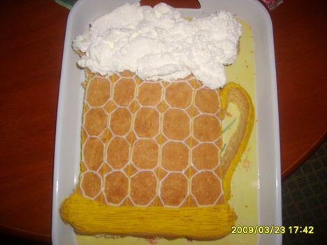 sör torta