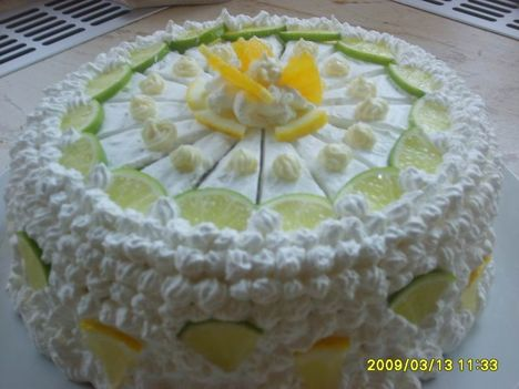 Zöld citrom torta