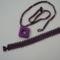Raw négyszög + karkötő lila