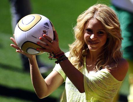 Shakira, a foci rajongó...