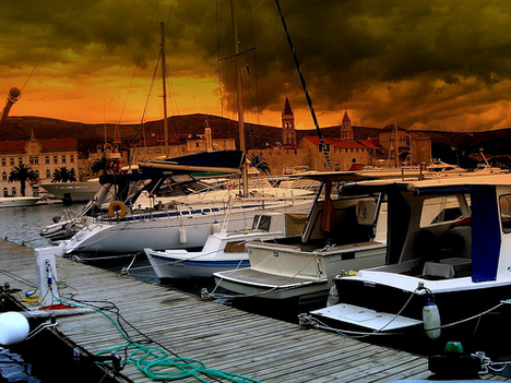 thunderstorms in port - croatia 2006 (by together8)