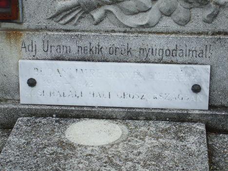 Buday Imre hősi halott síremléke