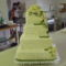 Kocka esküvői torta