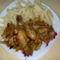 zőldséges csirkeragu,tésztával